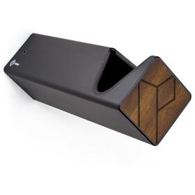 PARAX D-Rack Wandhalterung Aluminium mit Holzfront schwarz/braun